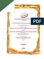 MONOGRAFIA APLICACION DE LAS TICS DE LA EDUCACIÓN  SUPERIOR.pdf