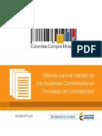 Manual para el manejo de  los Acuerdos Comerciales en  Procesos de Contratación
