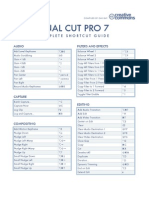 Final Cut Pro 7 Shortcuts