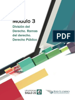 M3 - L6 - División Del Derecho. Ramas Del Derecho. Derecho Público