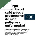 CAFE Amargo Remedio