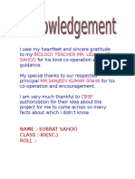 bio acknowledgement page for investigaory project