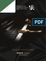 Vancouver Jazz Festival 2016 Program