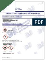 Metil Etil Cetona - Msds