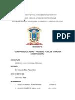 Jurisprudencia Penal y Procesal Penal de Carácter Constitucional