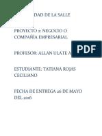 Proyecto 2 Tatiana Rojas Ceciliano