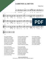 Parabienes Al Reves [Violeta Parra][Mma]