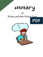Summaries Fiction and Nonfiction Texts