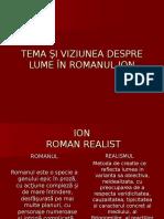 Tema Şi Viziunea Despre Lume În Romanul Ion