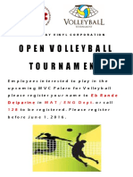 Volleyball Flyer Sample