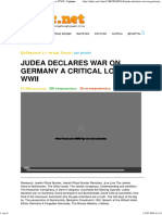 Judea Declares War on Germany a Critical Look at WWII