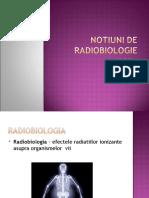 Notiuni de Radiobiologie