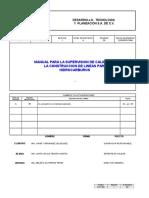 Manual Para La Supervision de Calidad en La Construccion de Lineas Para Hidrocarburos