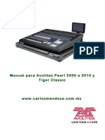Manual de Usuario Avolites Pearl