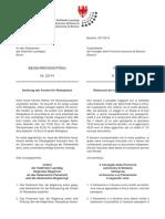 Senkung der Kosten für Reisepässe - genehmigter Begehrensantrag im Südtiroler Landtag L.Abg. Andreas Pöder - L.Abg. Elena Artioli