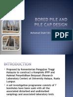 BORED Pile and Pile Cap Design