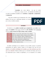 Palabras in Variables