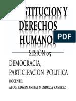 Sesion v Democracia y Derecho a La Participacion Politica