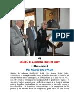 ¿Quién es Alberto Jiménez Ure? («Homenaje»)