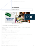 Professional Education Set 1