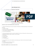 Professional Education Set 2