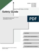 Mx2300g n 2700g n Om Safety Guide Gb