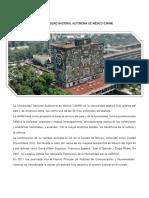 La Universidad Nacional Autónoma de México