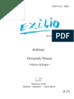 Antínoo. Fernando Pessoa. Revista Exilio No. 25