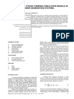 APPLICATION OF STEAM TURBINES SIMULATION MODELS IN POWER GENERATION SYSTEMS
