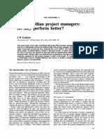 Machiavelian Project Managers