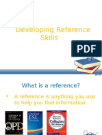 Developing Reference skills using a Dictionary and Thesaurus