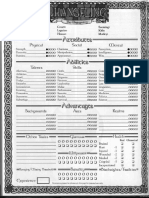 Changeling Character Sheet