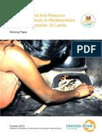 Energy Demand and Resource Assessment Study in Medadumbara Divisional Secretariat%2C Sri Lanka.