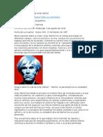 Ensayo Sobre La Vida de Andy Warhol