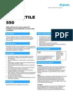TDS - Mastertile 550 - Dgrout