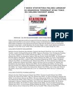 Telah Terbit Buku Statistika Paling Lengkap
