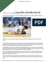 Môn Võ Nổi Danh Làng MMA Trình Diễn ở Hà Nội