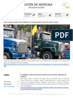 Boletín de noticias KLR 09JUN2016