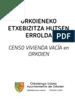 Censo Vivienda Vacia Orkoien 2015