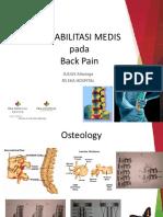 Rehabilitasi Medis Lowback Pain Dr. Julius Spkfrk