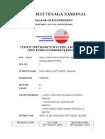 Open Ended Full Report CEWB121