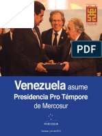 AA.VV. Venezuela Asume Presidencia Pro Tempore Del MERCOSUR