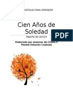 Reporte de Lectura 100 Años de Soledad