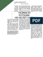 5. Jurnalul Conferintei de La Potsdam. Henri Truman
