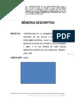 Memoria Descriptiva Modelo