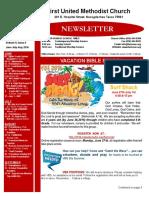 Newsletter for Jun-Jul-Aug 2016