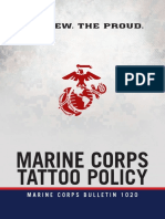 U.S. Marine Corps Tattoo Policy
