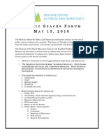 Public Spaces Forum-Final Report