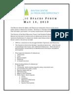Public Spaces Forum-Final Report