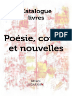 Catalogue Ligaran Livres Poésie Contes Nouvelles